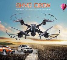 SKYC D20W Wi-Fi 2-МЕГАПИКСЕЛЬНАЯ Камера 2.4 ГГц 4 Канал 6 Оси FPV гироскоп Quadcopter 3D Опрокидывание RTF Версия 2016 Новое Прибытие RC Игрушки