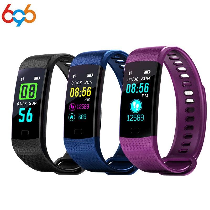696 Pulsometer Fitness Smart Armband Y5 Smart Band Aktivität Tracker Pedometer Smart Uhr Schwing Wecker Für Xiaomi