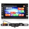 2016 GPS Навигации С Сенсорным Экраном HD 2DIN 6.2 Дюймов MP5/MP4 USB/SD Автомобиля Стерео DVD Плеер Bluetooth MP3 TV + Камера карта Европы