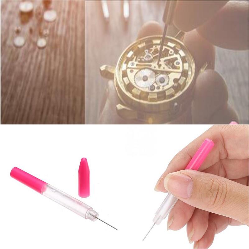 3Pcs/Set Oil Pin Pen Lubricant Precision Oiler Pen Pin Watch Clock Sewing Repair Tool Kit Mini Lubricant Oil Pen Needle