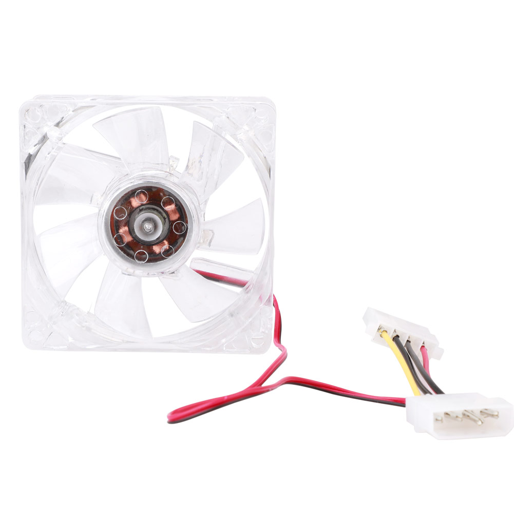 <font><b>80mm</b></font> Silent <font><b>PC</b></font> Computer Cooling <font><b>Fan</b></font> DC <font><b>12V</b></font> LED Luminous Chassis <font><b>Fan</b></font> Cooler <font><b>Fan</b></font> image