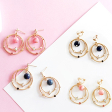Sweet Fashion Drop Earrings Earth and Star Bling Jewelry Wholesale Accessories For Women