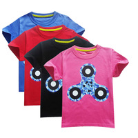 Katefengwo 2017 Baby Boys Girls Summer Hand Fidget Spinner T Shirts Children Clothes T Shirts Printed