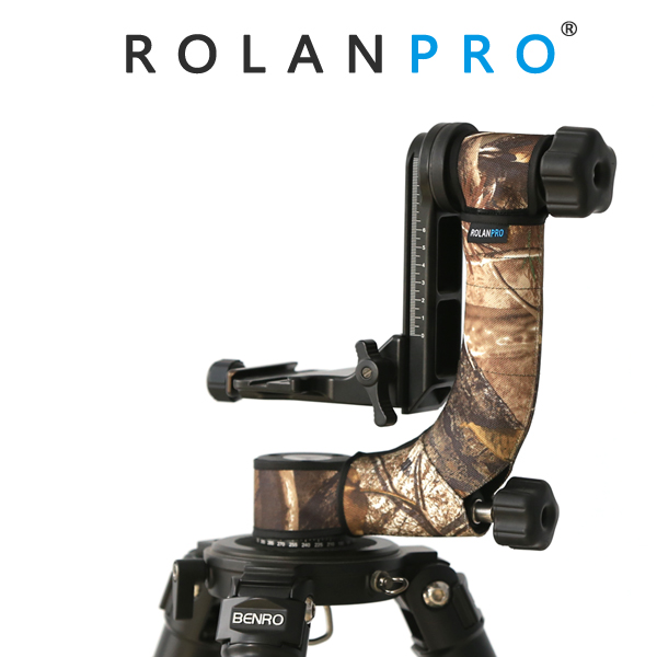ROLANPRO Tripod Head Camouflage Sleeve Protective Case For Gitzo Benro GH2 Wimberley WH 200 Gimbal Head
