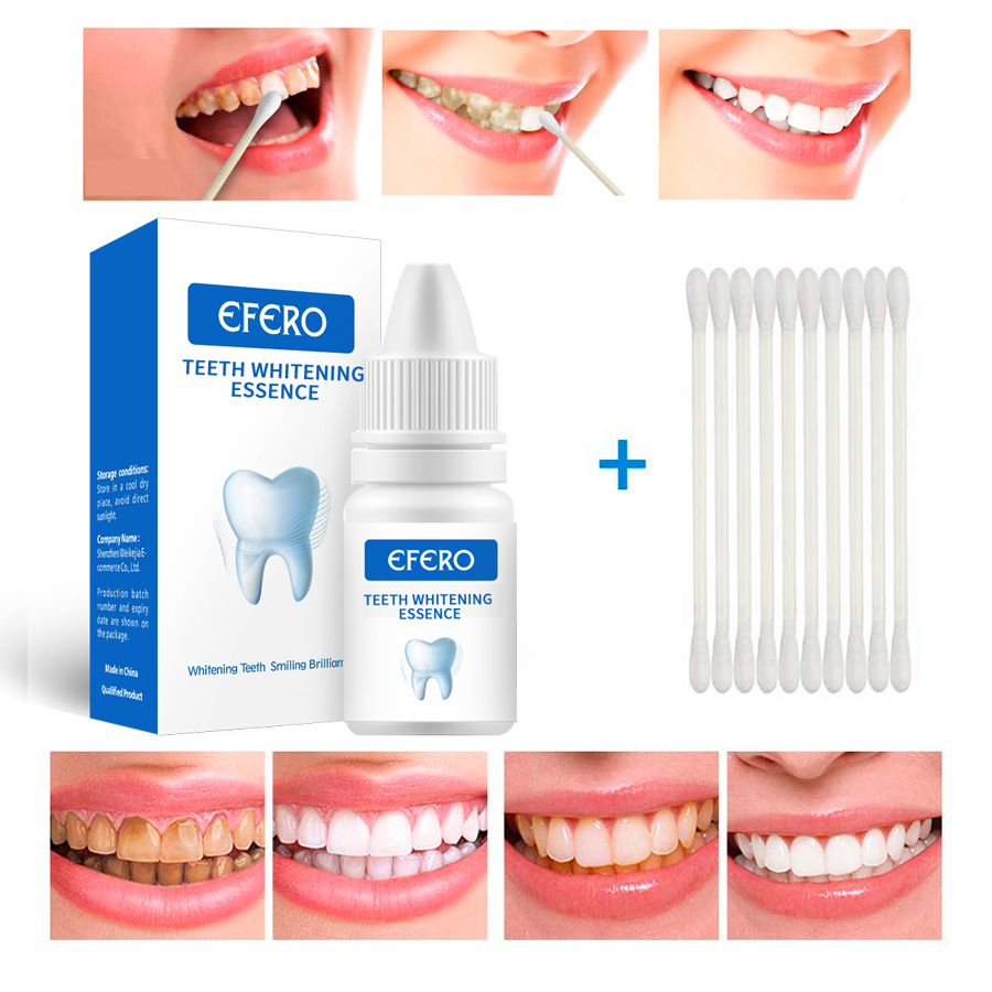 1PCS EFERO White Teeth Whitening Serum Oral Hygiene Cleaning Essence Remove Stains Tooth Bleaching Dental Teeth Care Products 3