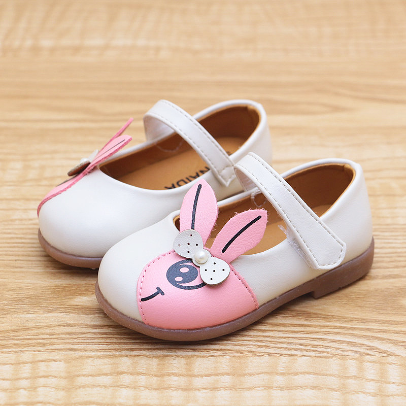 2020 New Baby Girls Flats Shoes Infant Toddler Girls Leather Shoes  Hard Sole Baby Girls First Walkers PU Leather Princess 15-25