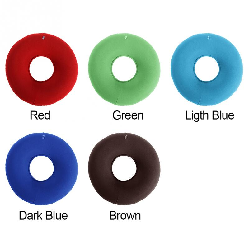 Inflatable Vinyl Ring Round Seat Cushion Medical Hemorrhoid Pillow Donut Free Pump Rubber Inflatable Seat Pad 34*12 cm #125