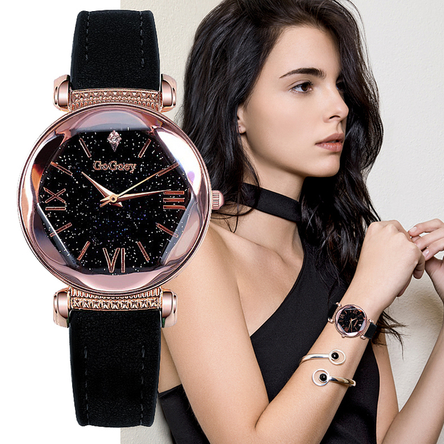 Gogoey Women's Watches 2018 Luxury Ladies Watch Starry Sky Watches For Women Fas