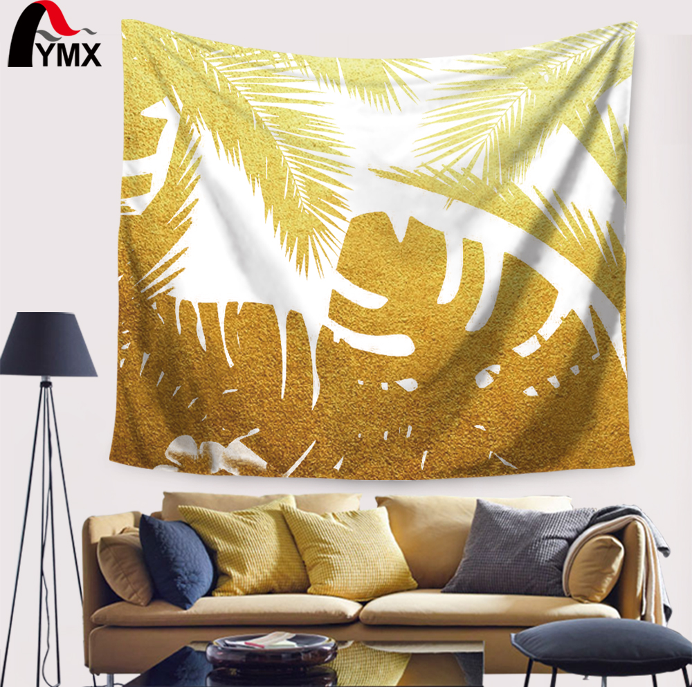 Creative Leaves Tapestry Wall Hanging Artistic Polyester Fabric ...