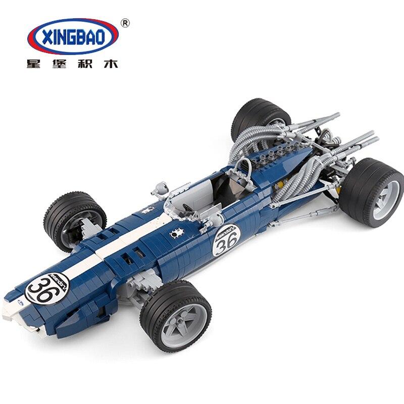 XINGBAO 03022 Technic la F1 bleu jeu de voitures de course briques de construction jeu éducatif jouet Legoings bricolage cadeau d'anniversaire enfants