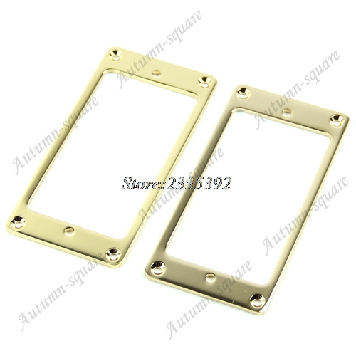1 Pair Gold Flat Humbucker Pickup Frame Mounting Rings For LP Electric Guitar syh 02 lp electric guitar pickup cover white silver pair