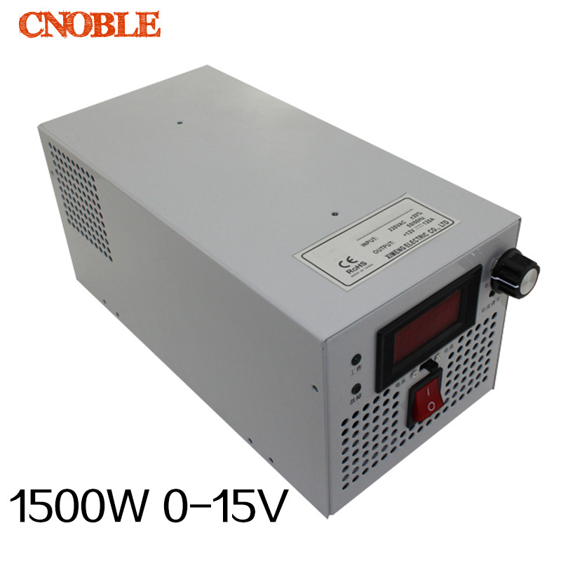 1500W 15V 100A adjustable 220V INPUT adjustable Single Output Switching power supply AC to DC