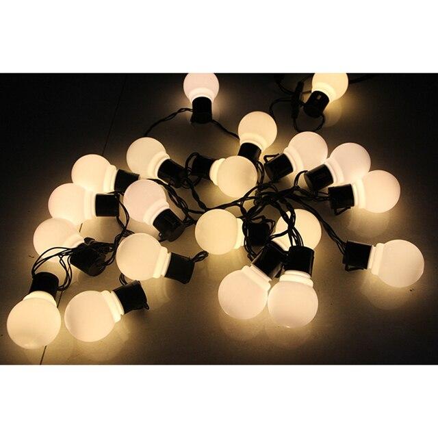 20 LED 16ft/5 m Luces de la Secuencia del Globo Bola Blanca Caliente Luz de Hadas para Jardín Fiesta de Navidad de La Boda de Nueva año