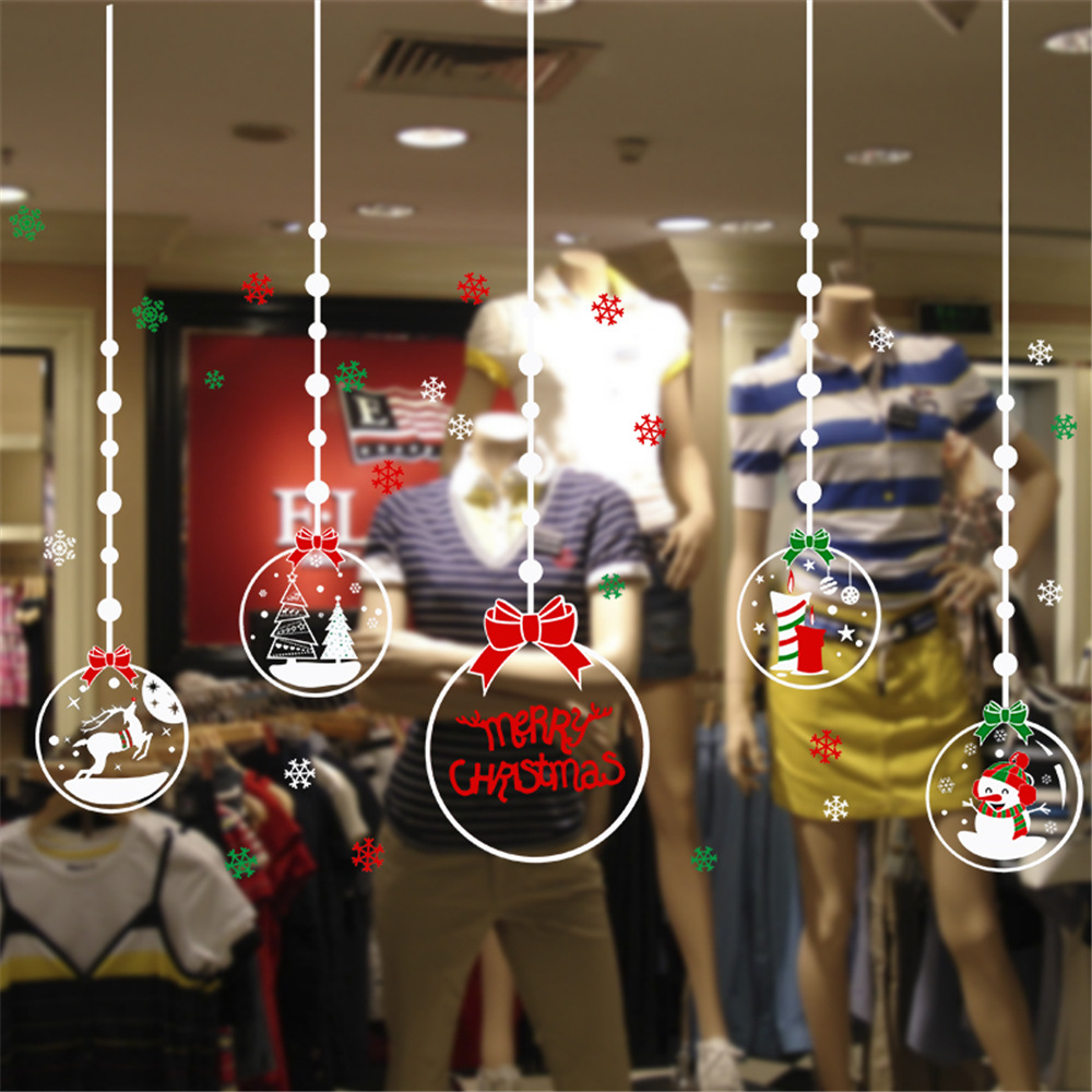 Christmas Electrostatic Wall Stickers Environmental Protection