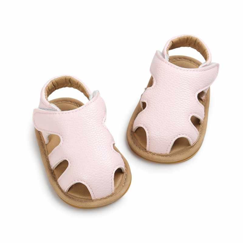 Sandália vazada para bebês recém-nascidos, sapatos casuais respiráveis para meninos, chinelos para bebês 0-18 meses