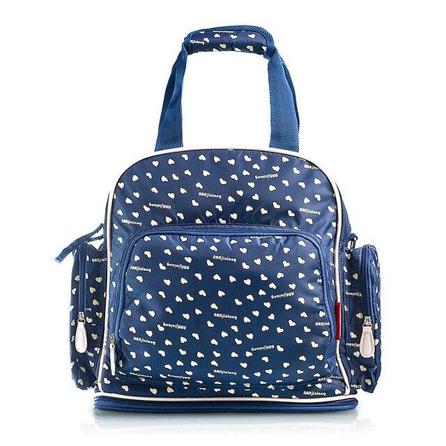 € 105.59 |Impresión Azul Rojo Del Bebé Bolsas de Pañales Pañal de Tela Impermeable de Oxford Bolso de La Madre Maternidad Hobos Del Bolso Mochila