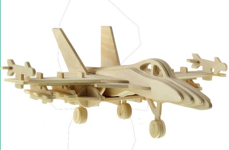 Моделирование бомбардировщик игрушка модель 3d трехмерные деревянные головоломки игрушки для детей Diy ручной работы деревянные пазлы