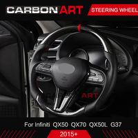 Carbon Fiber Glossy Black Universal Steering Wheel Replacement Suitable For Infiniti QX70 QX50 Q50 G37 carbon steering wheel