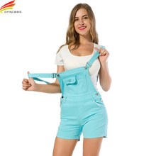 1b0e8ddb45d5 Women Jumpsuit Denim Overalls 2018 Summer Jumpsuits 4 Colors Rompers Casual  Strap Elegant Pockets Shorts Jeans Overall Playsuits
