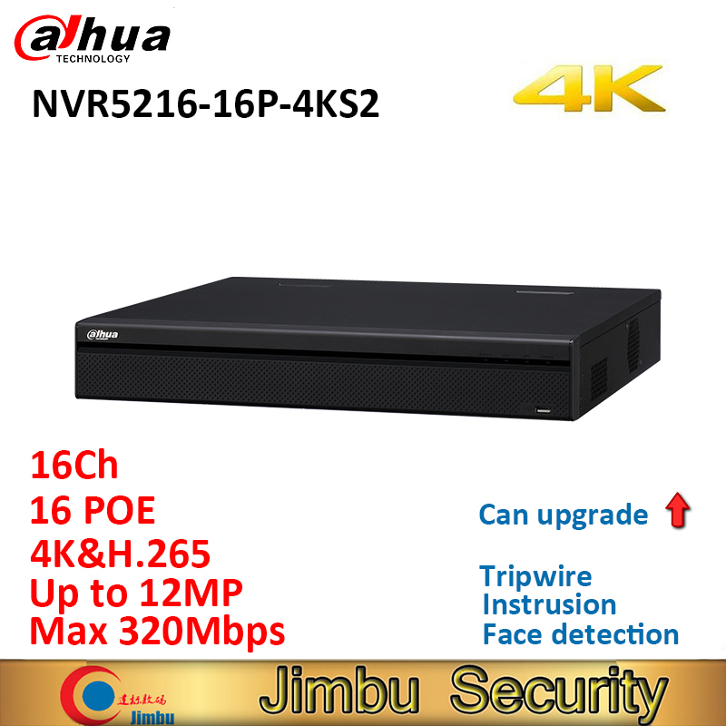 Dahua 16Ch 1U 16PoE NVR5216-16P-4KS2 4K&H.265 Pro Network Video Recorder Up To 12Mp Resolution With 2 SATA Ports Up To 12TB
