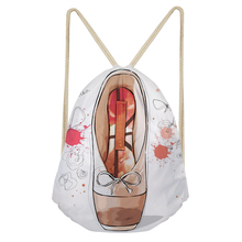 Noisy Designs Ballet Shoes Bags for Women Dustproof Travel Backpack Drawstring Bag Shopper Bag Racksuck Custom