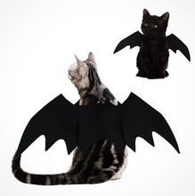 2019 del Nuovo Halloween Cane di Animale Domestico Costumi Ali di Pipistrello Vampiro Nero Sveglio Fancy Dress Up Halloween Pet Dog Cat Costume(China)