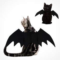 2019 New Halloween Pet Dog Costumes Bat Wings Vampire Black Cute Fancy Dress Up Halloween Pet Dog Cat Costume