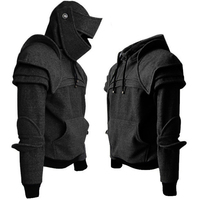 Armor Medieval Vintage Warrior Knight Mask Armor Hoodie Jacket Sweatshirt Men's Fall Winter Hoodie