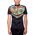 African mens tops with epaulet made to measure men dashiki clothes fashion for male short sleeve african shirt custom made