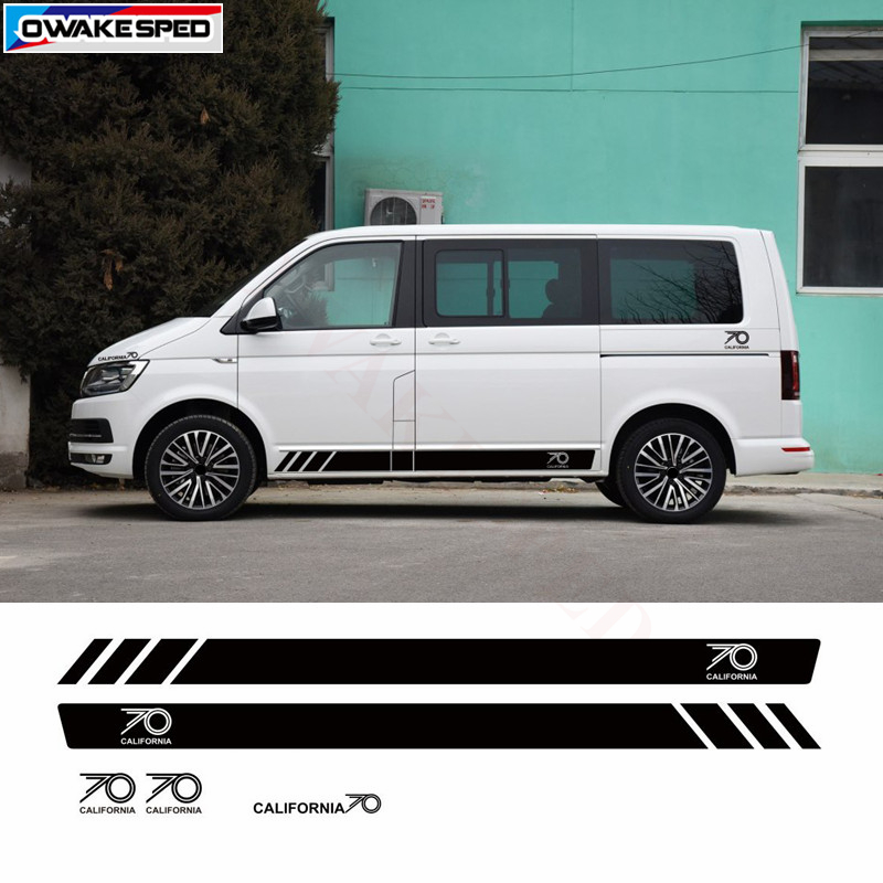 Us 2699 10 Offfor Volkswagen Multivan T5 T6 California Edition 70 Years Side Stripe Creative Vinyl Decal Car Body Decor Stickers In Car Stickers