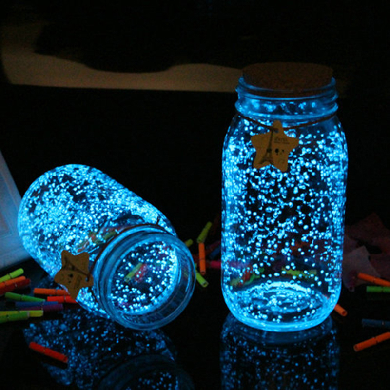 10g Luminous Party DIY Bright Glow In The Dark Paint Star Wishing Bottle Fluorescent Particles Wedding Birthday Party Decoration