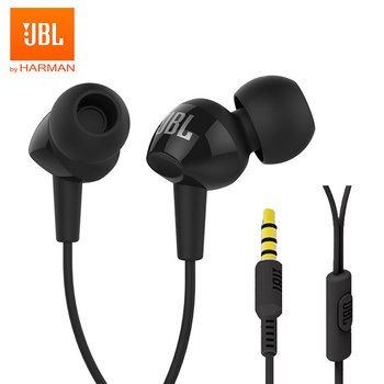 JBL C100Si Original 3.5mm Wired Stereo Earphones Deep Bass Music Sports Headset Sports Earphone Hands-free Call with Microphone