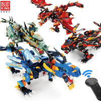 MOULD KING Movie Building Blocks Mech Dragon Technic Creator nanoblocks RC Toys for Children Assembly Enlighten Bricks