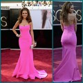 Delicate Hot Pink Sweetheart Maria Menounos Academy Awards Dresses 2016 Celebrity Mermaid Red Carpet Evening Gowns
