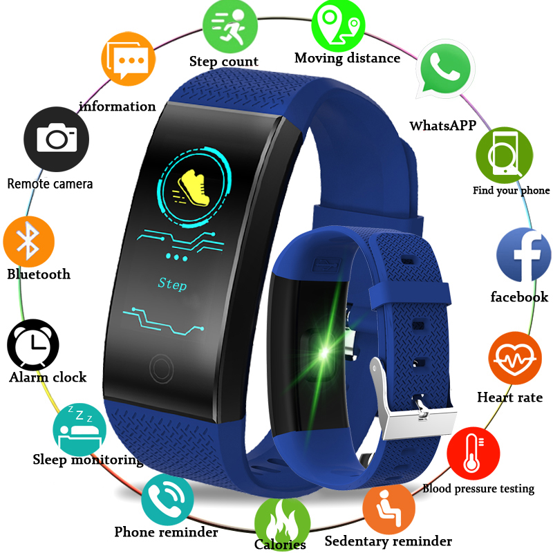 2018 Nouvelle Annonce Fitness Tracker Smart Bracelet Hommes Femmes Sport Podomètre OLED Couleur Tactile Écran Smart Bracelet PK mi bande 3