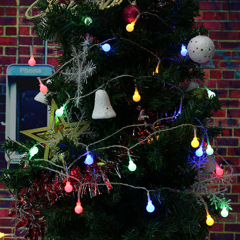 2.2M 20 LED String Light Christmas Lights Holiday Rattan Ball Outdoor Lighting Christmas Wedding Garden Party Decoration By 3*AA