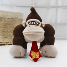 Super Mario Bros 19cm Monkey Donkey Kong Cartoon Anime Plush Toys For Children Gift Peluche Soft Stuffed Dolls Free Shipping