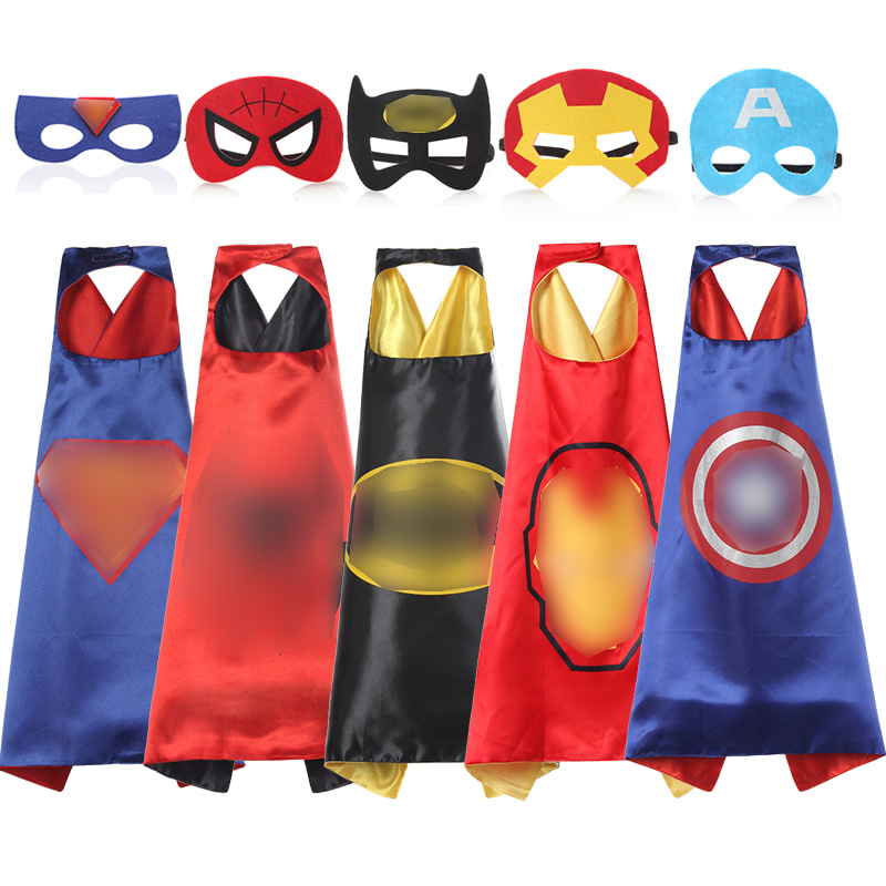 Superhero Cartoon Mask Toy Cosplay Mask&Cloak Jouet Les Marve Anime Connor Greg Amaya Children Christmas Party Brinquedos Gift