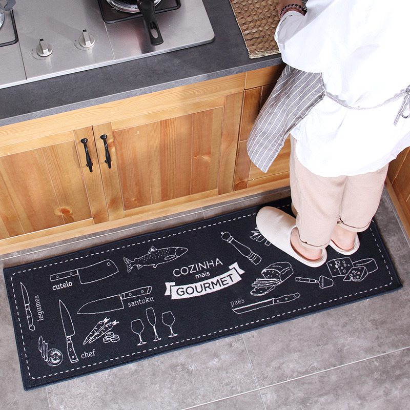 mat for kitchen floor honlaker polypropylene kitchen mats door entry rug living 7396