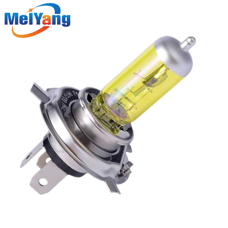 H4 55W 12V Yellow Fog Lights Halogen Bulb High Power