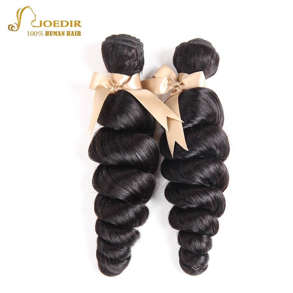 Joedir Hair Malaysian Loose Wave Bundles 8-28 Inch 2PCS Human Hair Weave Bundles Natural Color Can Mixed 100g Remy Hair Weaving