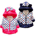 Baby girl clothes winter costume for kids Jackets&Coats cute warm cartoon style cotton-padded coral hooded outerwear 11colors