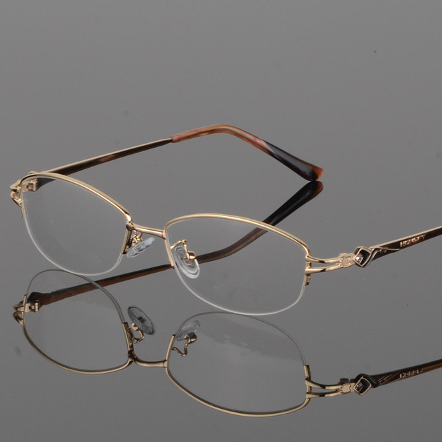 127828d94792 Optical Glasses Women Fashion Half Frame Design Myopia Eyewear Oculos De  Grau Feminino Gafas
