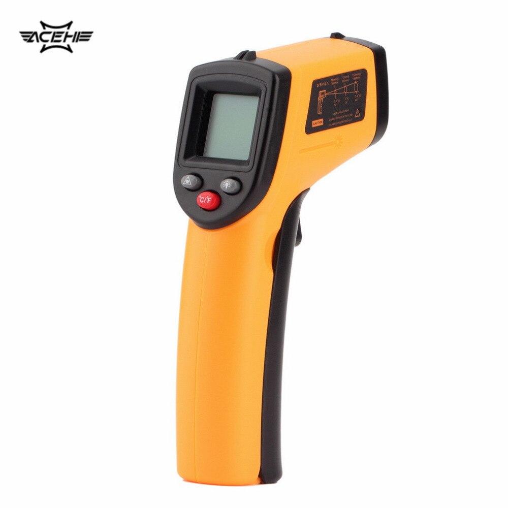 1 Pc Laser LCD Numérique IR Infrarouge Thermomètre GM320 Thermomètre Gun Point-50 ~ 330 Degrés Non-contacter Thermomètre