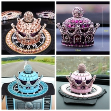 Luxury Crystal Crown a type car perfume seat And mat Auto creative crystal high-grade crystal interior furnishing articles