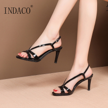 Sandals Women Summer Shoes Footwear Open Toe Thin Heel 7cm