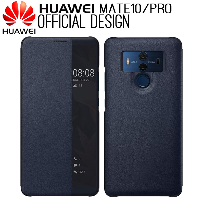HUAWEI Mate 10 Case Original Official Mirror Smart View Window Leather Flip Case Huawei Mate 10 Pro Case Mate10 Cover Funda