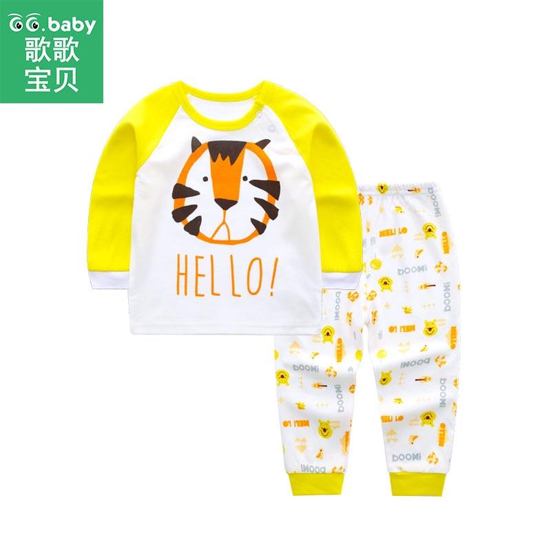 Schnelle Lieferung Tier Tiger Pyjama Baby Boy Set Baumwolle Baby Schlaf Anzug Schlafanzug Pijama Bebe Schwellen Neugeborenen Baby Jungen Sleeper Infant Pyjamas