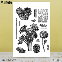 AZSG LOVE YOU MORE Clear Stamps/Seals For scrapbooking DIY Card Making/Album Silicone Decoration crafts