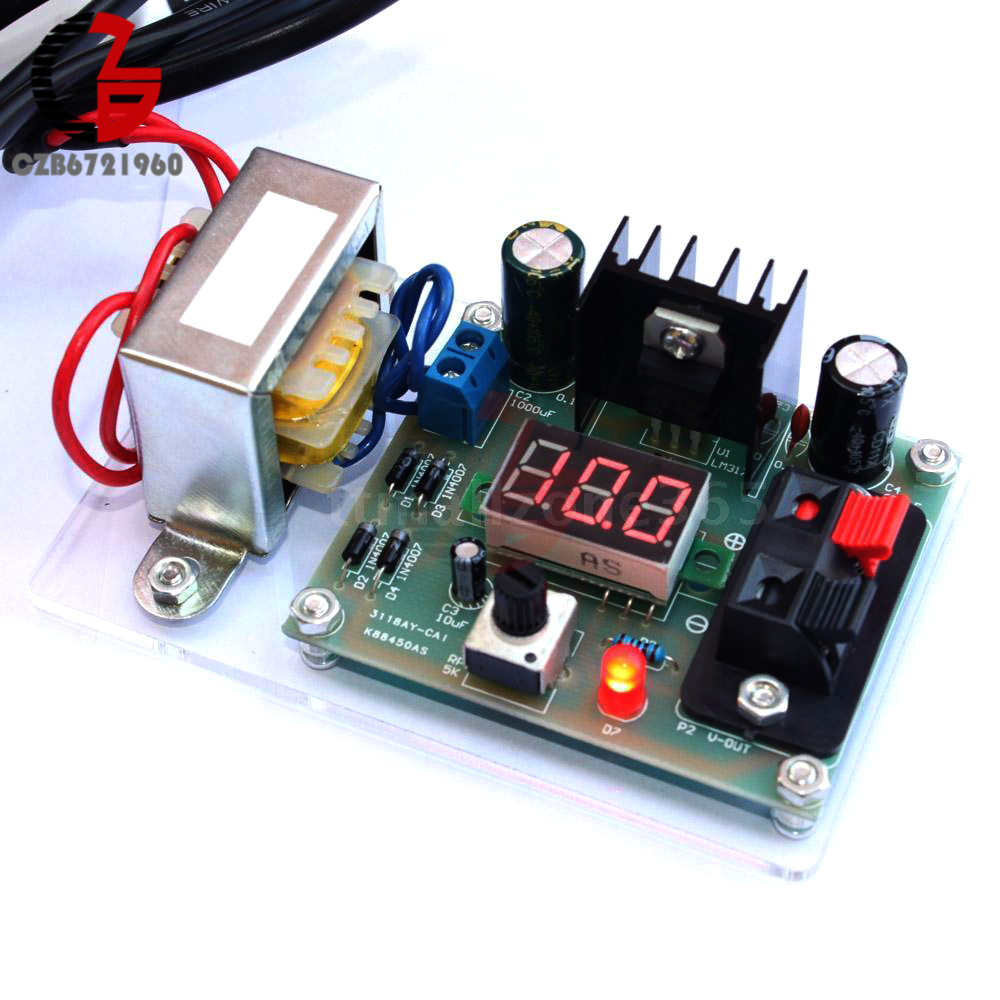 Adjustable AC to DC Regulated Voltage Regulators Module DIY Kit LM317 1.25-12V US lm317 lm317l lm317lz to 92